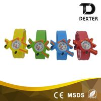 Hot sale new style promotional silicone slap band kids plastic watches