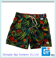 stylish quality 100% polyester wholesale men's water proof swimming trunks