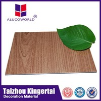 Alucoworld home decoration timber pattern aluminum 4ft x 8ft sheets acm sheet