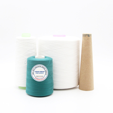china wholesale <strong>polyester</strong> <strong>spun</strong> <strong>yarn</strong> for making sewing thread from factory/manufacturer