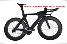 2017 high - end DI2 carbon fiber time trial bike super light tt chinese cheap complete carbon road bike for sale