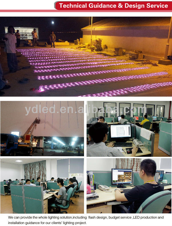 YD spheroidal media facade with aluminum panel outdoor waterproof LED point light