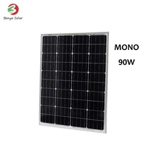 Monocrystal silicon 90W thermodynamic 12v solar panel