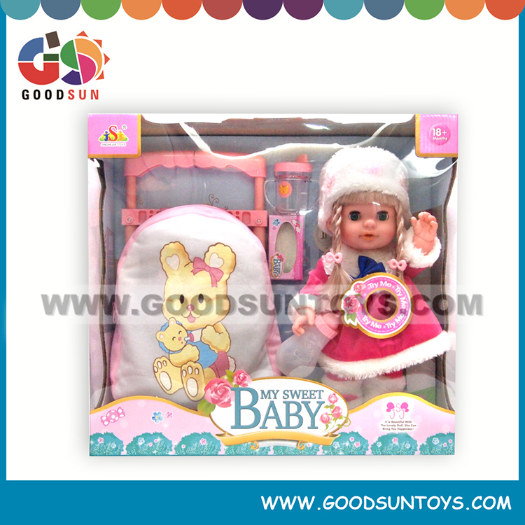Newest baby toy 14 inch laugh cry fashion doll toy for children