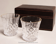 Crystal Wine Glass Cup Concave Whiskey GLASSES- Spirit Drinking Tumbler