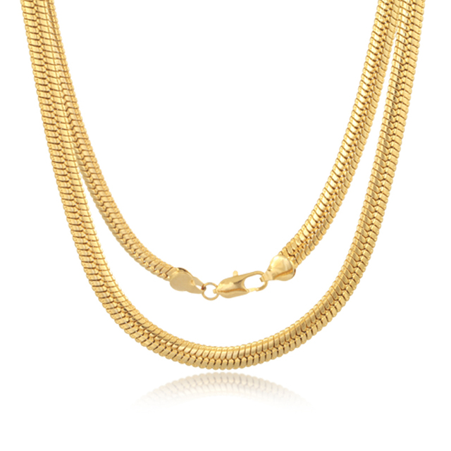ATHENAA Factory Wholesale Necklace Europe Style 18k Gold Jewelry Korea Snake Chain Necklace
