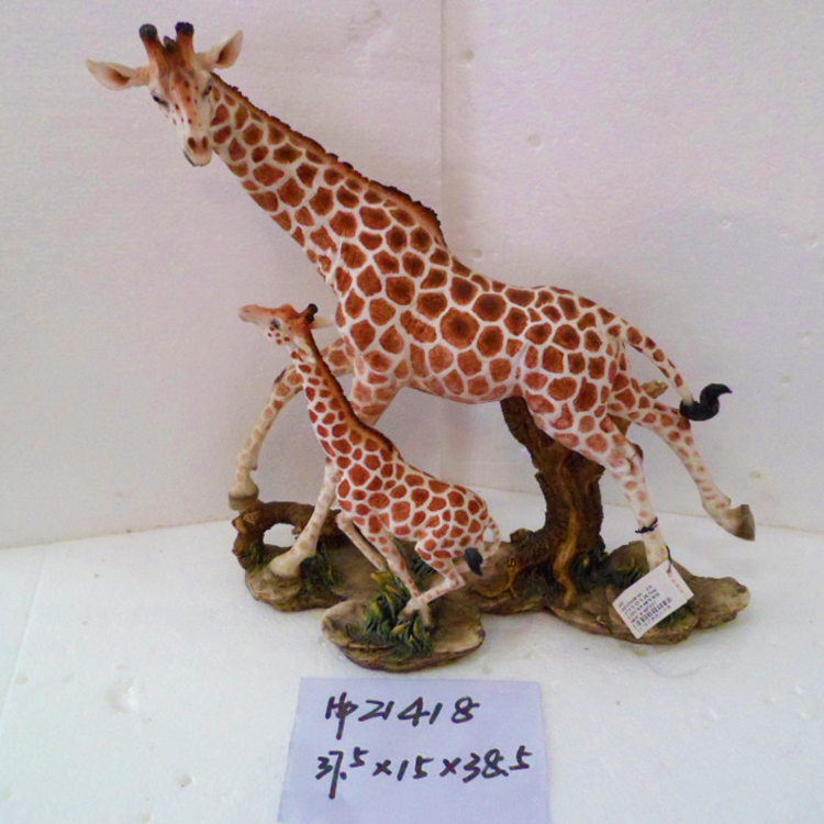 Vivid Giraffe Resin Crafts For Decoration