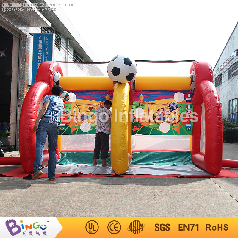 Outdoor inflatable sports soccer shooting game equipment for sale