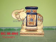 Ceramic Elephant with Stand (HG 08-4001)