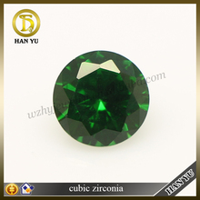 Wholesale rough gemstones green round cz diamonds