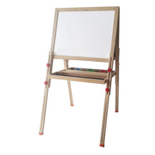kids drawing blackboard and white board with easel