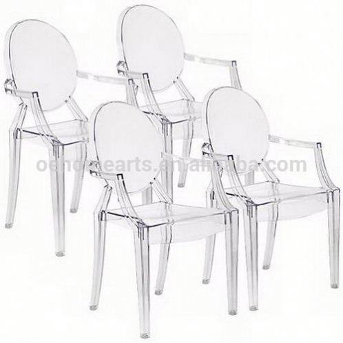 2017 new & hot good quantity with great price standard size acrylic chair without backrest