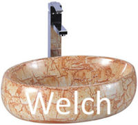 3001D antique wooden wash basin