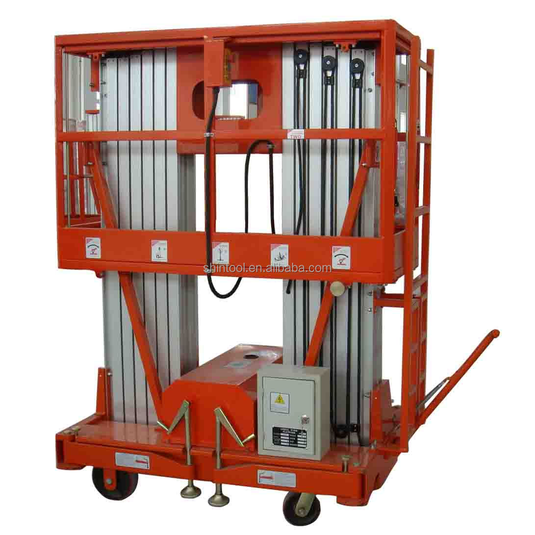12m Double mast Mobile Aluminium adjustable work platforms AWP12-2000