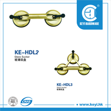 KE-HDL3 Good force three-plate pumps suction cups glass table door locks