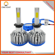 Popular Auto electrical lighting H4 H3 Car LED Headlights 24W 2600LM COB LED bright chip for car light solution
