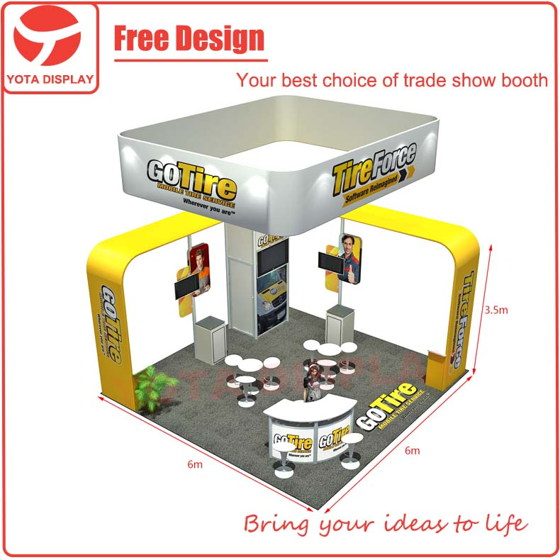Used Trade Show Booth : Yota portable island or trade show booth with