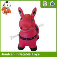 PVC inflatable toys style plastic animal toy for kids skip animal toys/ jumping horse