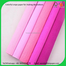 Colour crepe paper Handmade DIY paper 100 rolls of each package