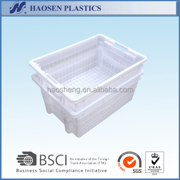 plastic nestable and stackable crate PP material /mesh crate