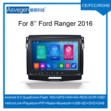 Android Car DVD Player For 8inch Ford Ranger 2016 Car GPS Support Buletooth Radio Wifi Playstore With Accessories Car Spare Part