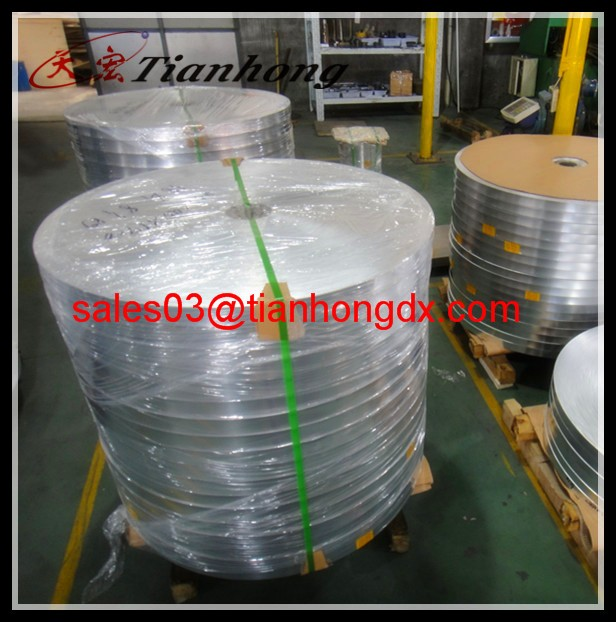 industrial aluminum strip jumbo roll heat sealed polyester film manufacturer in China