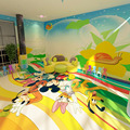 Customized Pattern Indoor Safety PVC Vinyl Commercial Floor for Amusement Park