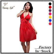 transparent nylon sexy night dress women sexy revealing lingerie for girls