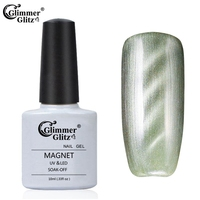 Glimmer Glitz 75 color soak off uv/led nail gel polish cheap uv gel nail polish 10ml 6558
