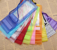 coloful clear best quality PVC waterproof mobile phone pouch