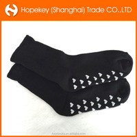 2015 women black socks full terry socks with heart shape silicon anti-slip