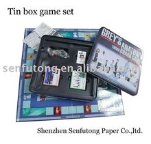 Tin box board game sets intelligent board games travel dice game set