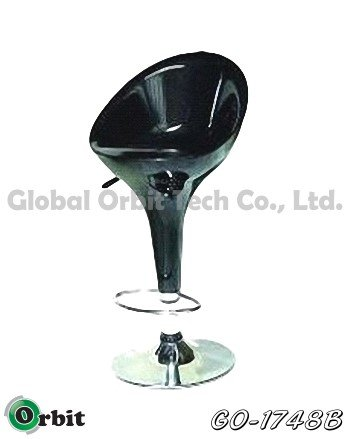 Height Adjustable Black Bar Chair Modern Bar Stool Plastic Bar Stool
