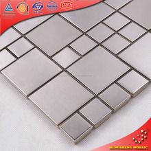 Wholesale bathroom design stainless steel craft mosaic tiles
