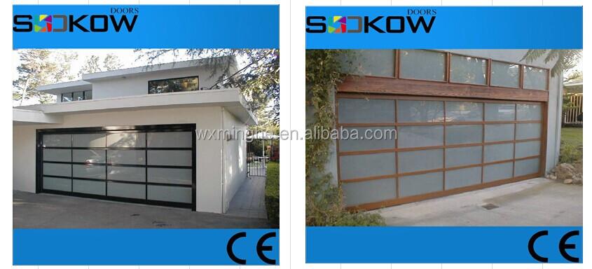 Frosted Polycarbonate Garage Door With Transparent Glass/overhead Glass  Garage Door Wuxi