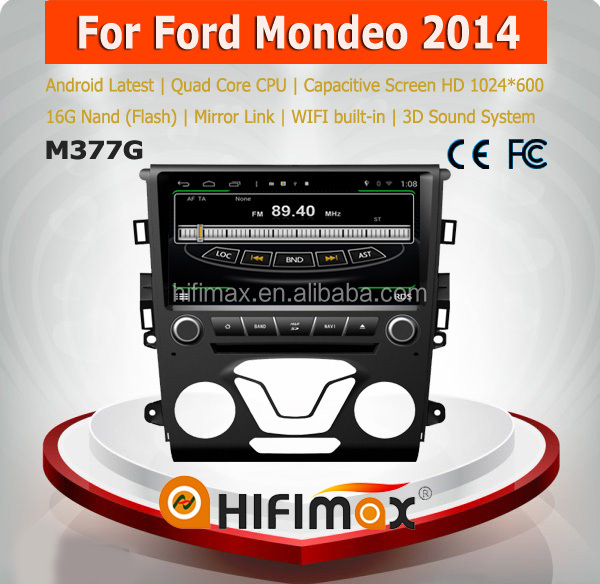 HIFIMAX Android 4.4.4 Car Audio System For Ford Mondeo 2014 Multimedia Car DVD Navigation With 4 Core 16G Flash Wifi 3G INTERNET