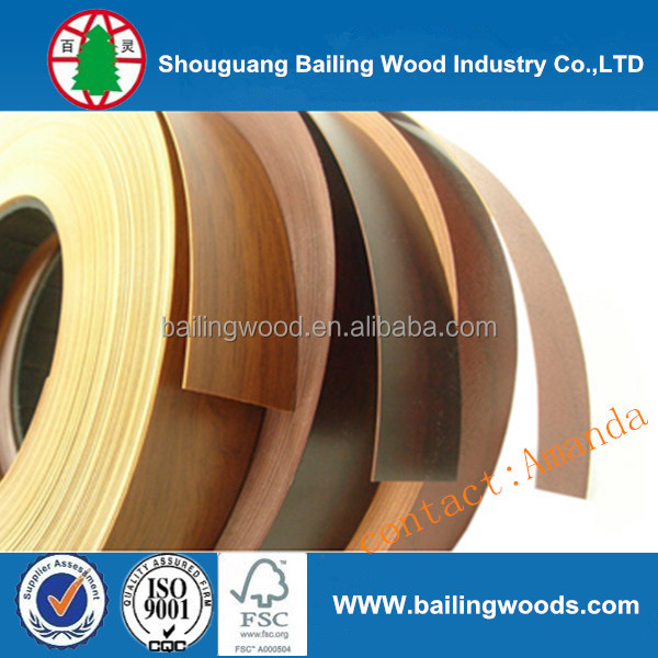 PVC / ABS 0.6-3 mm edge banding tapes for sales