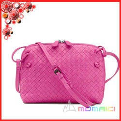 high quality designer sheep leather weave bag shoulder bag