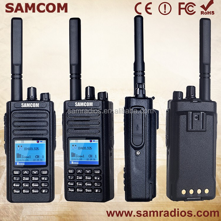 SAMCOM DMR two way radio DP-20 with FCC,IP 67 compatible with moto MOTOTRBO radios
