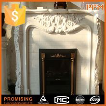 2015 hot sale elegant victorian marble fireplace surround with column