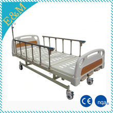 EMB 23 manual hospital bed head with Collapsible side rails by aluminum