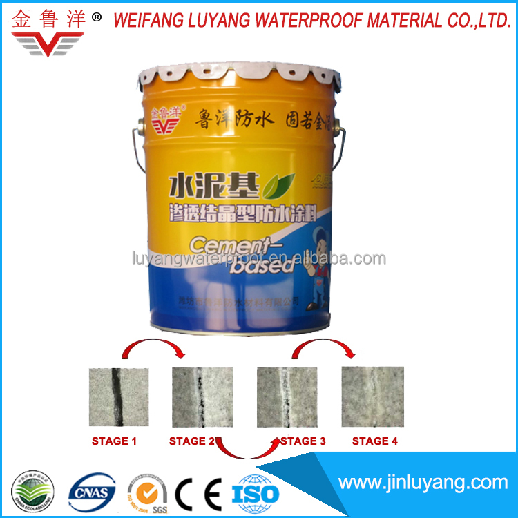 cementitious capillary crystalline waterproof coating for out door