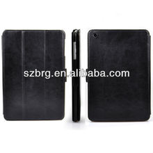 3 folding ultra book leather case cover for ipad mini