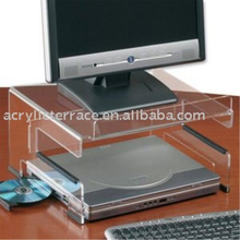 Clear Acrylic Laptop Workstation with External Monitor Stand