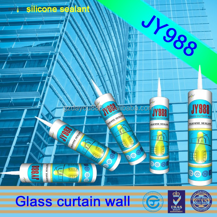 JY988 uv glue for glass to metal pressure sensitive adhesive is bulk silicone sealant