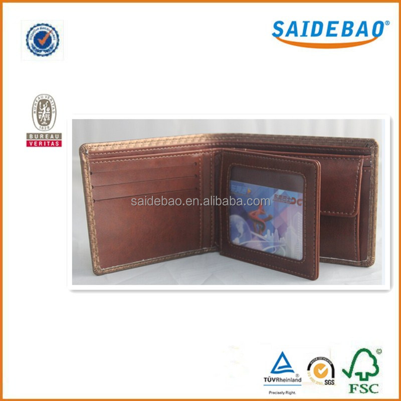 2016 fashionable cowhide genuine leather/pu leather men's wallet , hot sale teen wallets