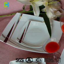 Latest tempered glass iran dinner set with popular design