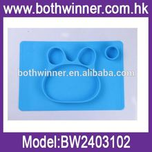 TSJ silicone rubber placemats and coasters rubber cute silicone placement