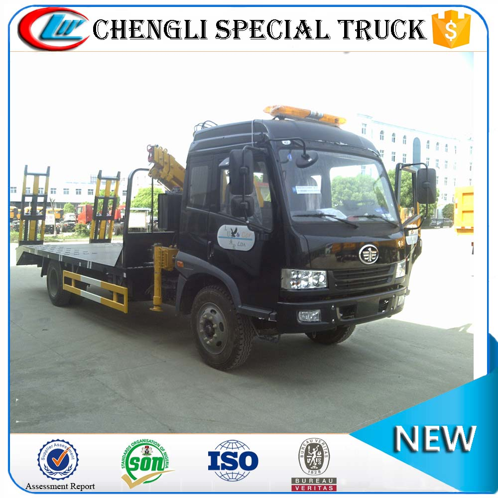 Cheap price FAW Jiefang 4x2 4X4 6 wheeler 8000L Capacity 8 ton 10 ton Flat Truck for Sale