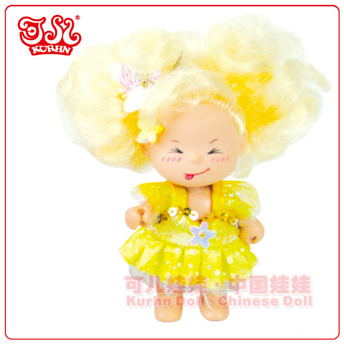 Mini wholesale baby fairy fashion baby doll size 9cm / child love dolls